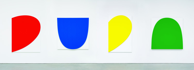 Ellsworth Kelly, Curves on White (Four Panels), 2012 Oil on canvas. 4 parts. Courtesy of Marian Goodman Gallery, Paris.
