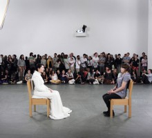 "Marina Abramovic, installation view ""The Artist is Present"", MoMA, New York 2010. Photo © Marco Anelli"