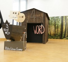 BRENT DICKINSON Systhematic Theology on Forked River Mountain, 2012. Mixed Media, dimensions variable  © the artist, photo by R. Holler-Strobl