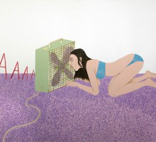 ED TEMPLETON Screaming into the fan, 2012  114 x 164 cm  acrylic on paper Courtesy Tim Van Laere Gallery, Antwerp