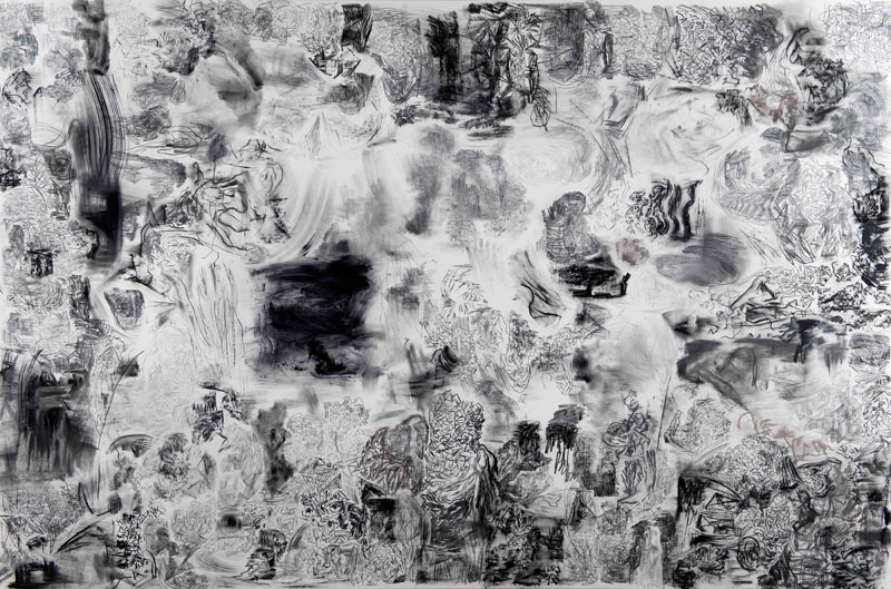 Eduardo Stupia, Landscape III, 2013, Mixed media on canvas, 200 x 300 cm.  © Rosenfeld Porcini