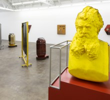 Steven Claydon, Total Social Objects, Installation view at David Kordansy, April 2013.