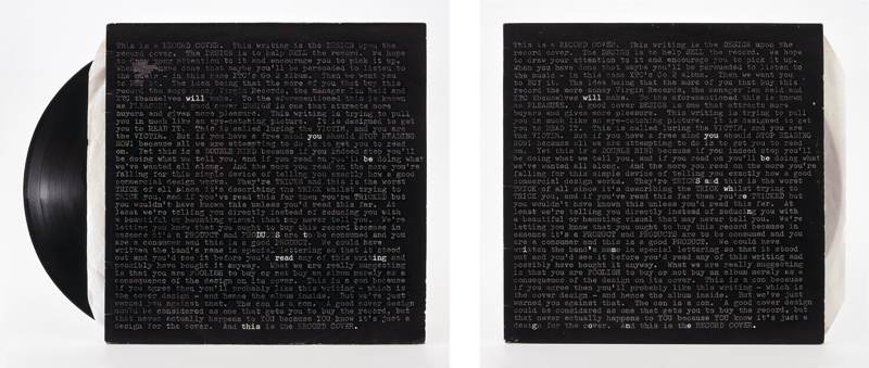 "Natalie Czech, ""A poem by repetition by Robert Creeley"", 2013, 2 colour-prints, 2 frames, museum glass, 2 parts, Part 1- 64.2 x 78.3 cm Part 2- 64.2 x 67.8 cm, © the artist, Photo by Jens Ziehe, Courtesy Capitain Petzel, Berlin"