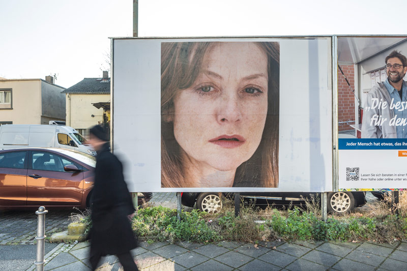 Roni Horn. Portrait of an Image (with Isabelle Huppert), 2005/2013 Gerbermu?hle, Frankfurt © Roni Horn, Schirn Kunsthalle Frankfurt 2013 photo by Norbert Miguletz