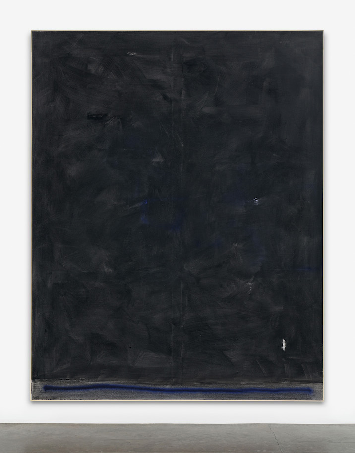 David Ostrowski, F (Plo?tzlich Prinzessin), 2014. Acrylic and lacquer on canvas. 241 x 191 cm. Copyright the artist. Courtesy Lisson Gallery, London