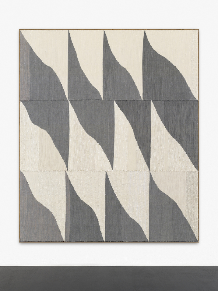 "Brent Wadden, ""No. 5 (Reserve)"", 2014. Painting - Handwoven fibres, wool, cotton and acrylic on canvas. Courtesy Peres Projects."