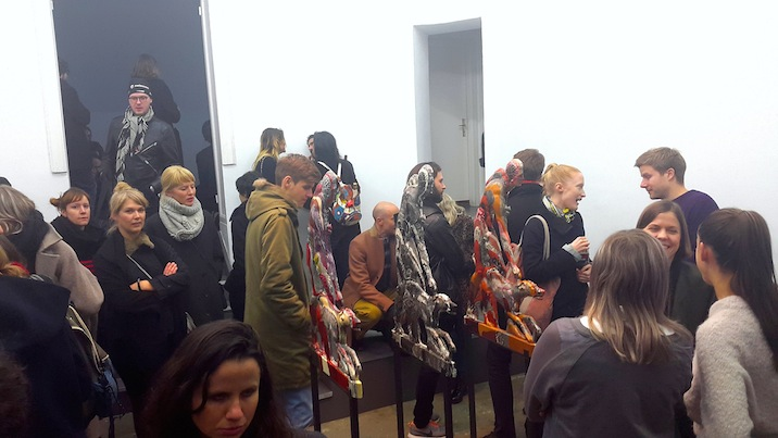 A packed opening night at Tanya Leighton gallery, taken with the Samsung Galaxy Alpha.
