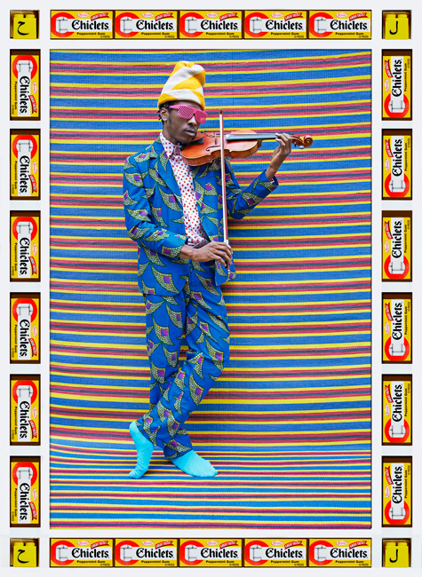Hassan Hajjaj Mr M. Toliver, 2013 Metallic Lambda print on Dibond with wood and found objects Courtesy of the artist and GUSFORD | los angeles Exhibitor : GUSFORD | los angeles