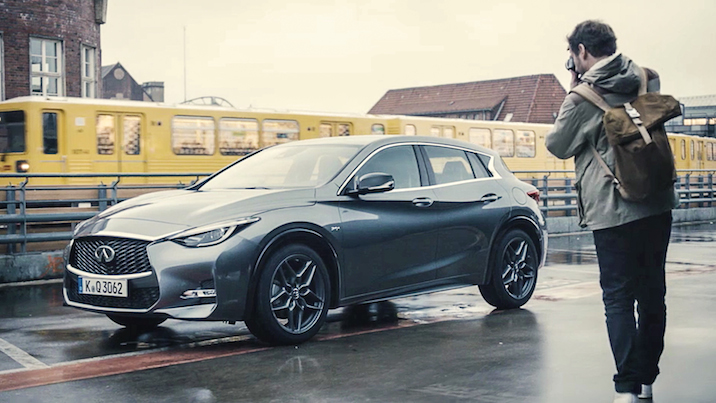 Michael Schulz shoots the Infiniti Q30 in Berlin