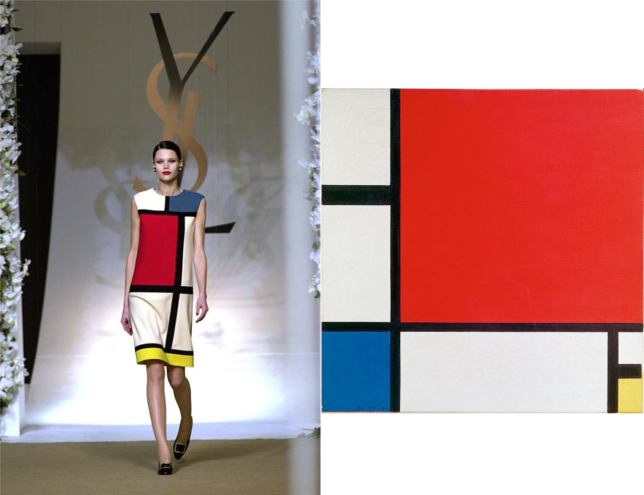 YSL's 1965 Mondrian Collection