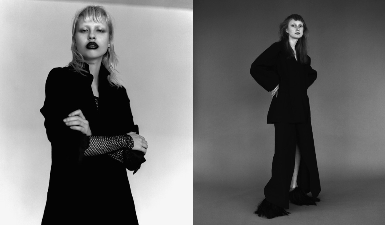 Fashion Editorial: Black and White by Sebastian Johansson