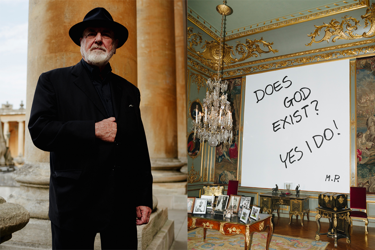 Michaelangelo Pistoletto by Dan Wilton and Does God Exist? Yes, I do, 1978 -2016, Third State Room, 2016