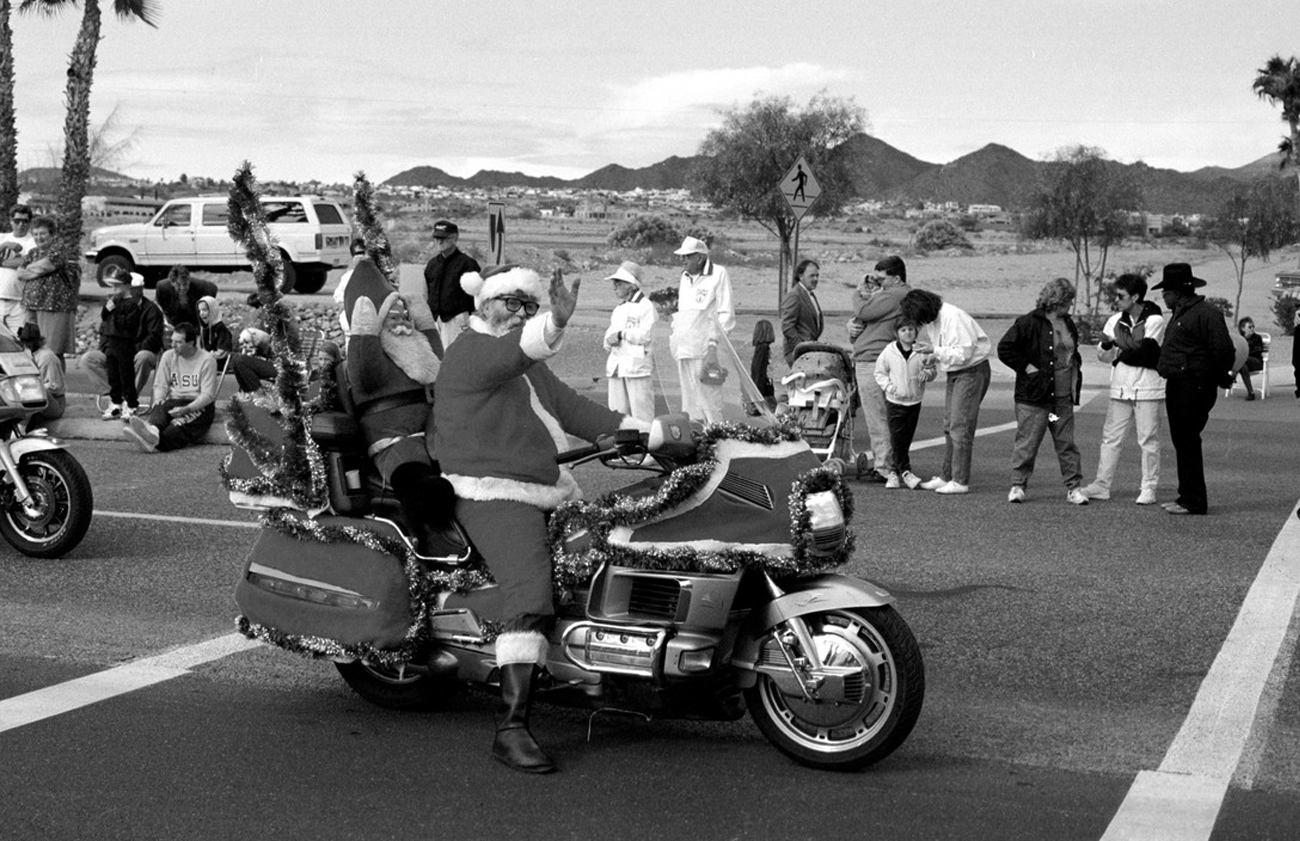 David Hurn USA. Arizona. Fountain Hills Parade. America has a long tradition of local parades. They are a way of showing off the local community activities and its commercial base.