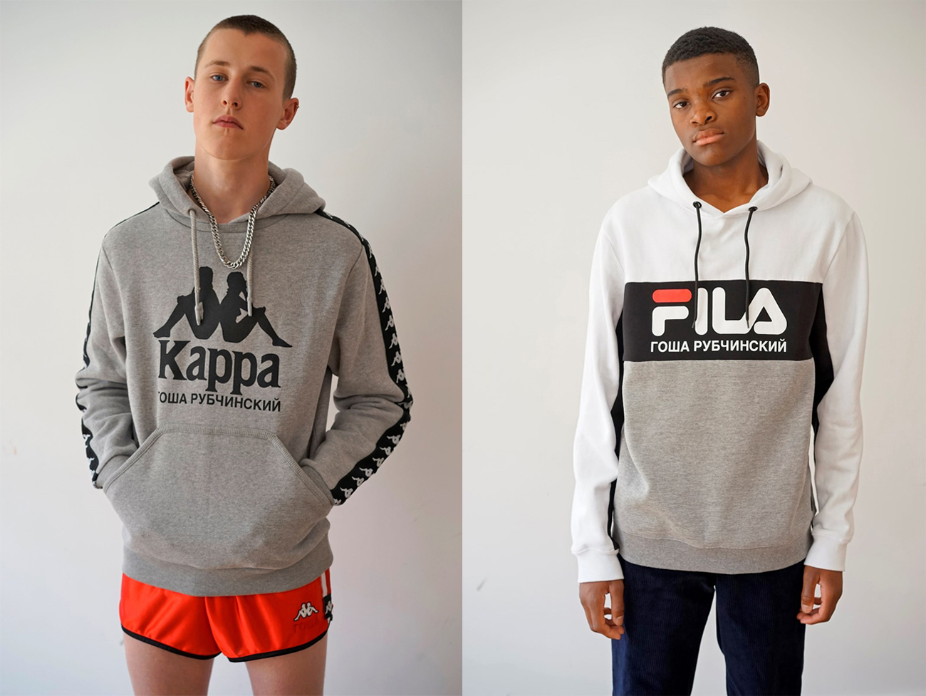Gosha Rubchinskiy for Kappa and Fila. Images from ef.city.com