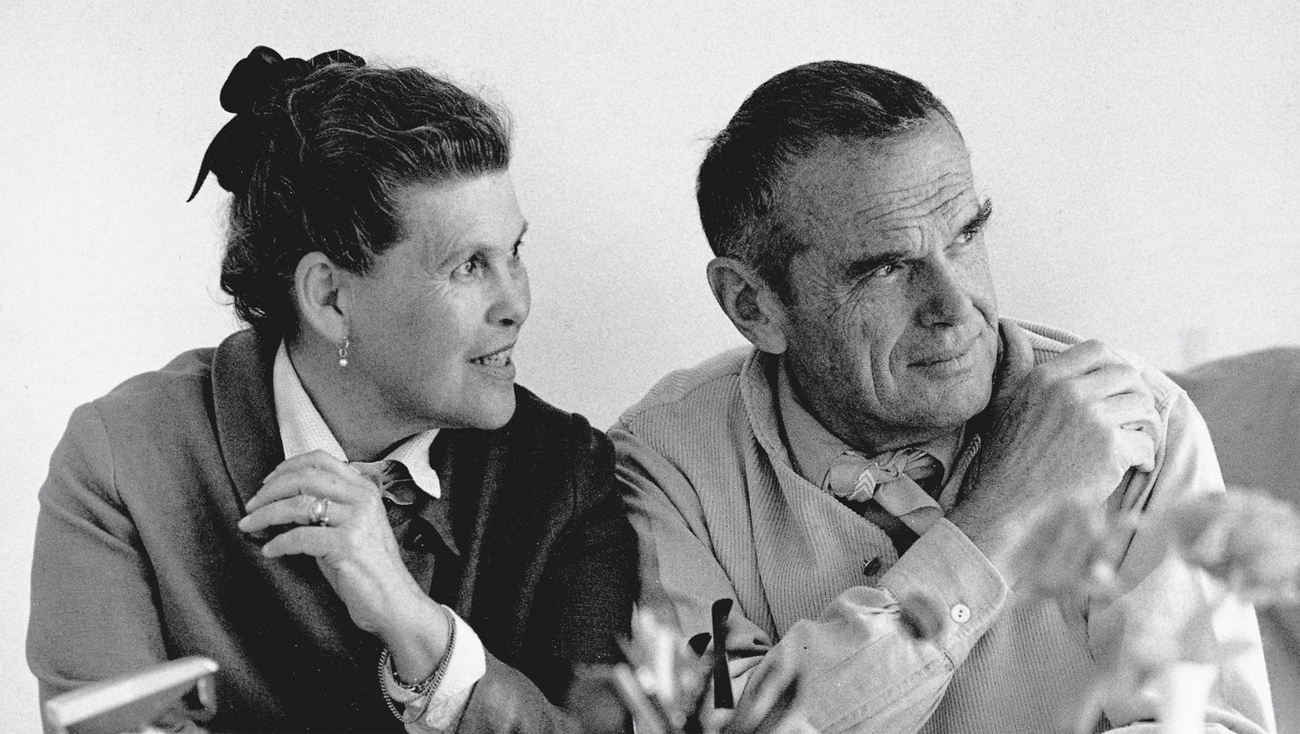Ray and Charles Eames. Image from vitra.com