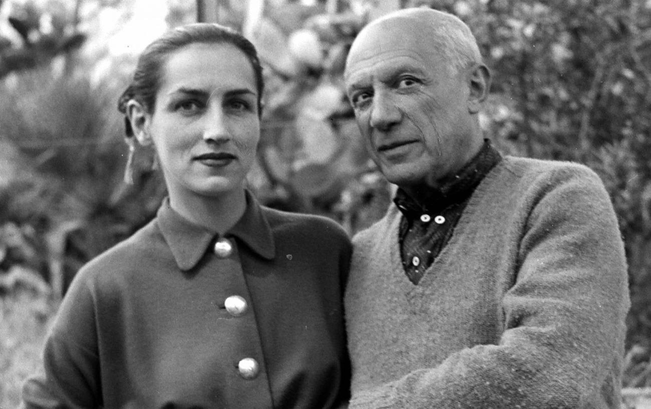 Pablo Picasso and Françoise Gilot. Image from realclearlife.com