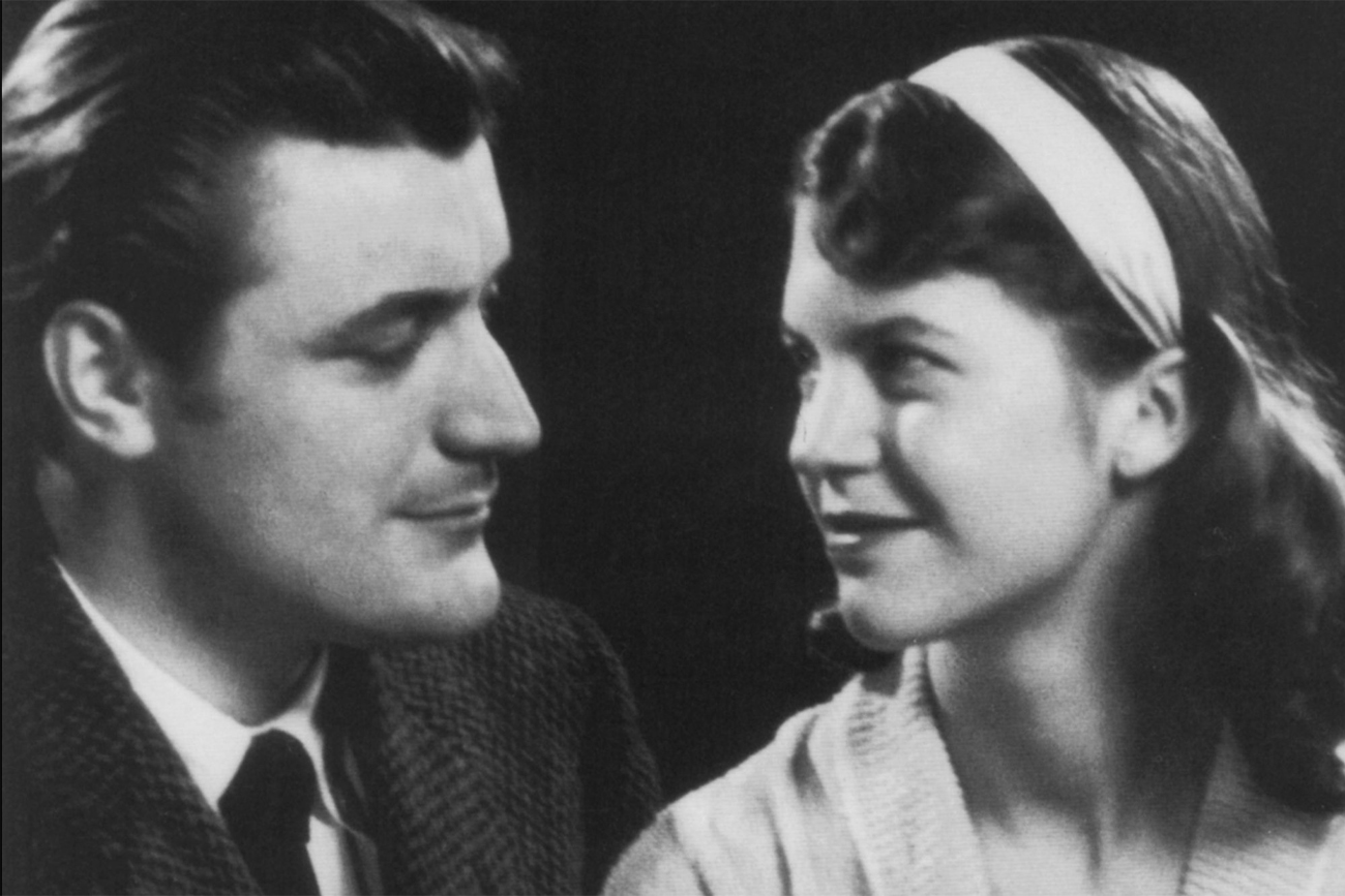 Sylvia Plath and Ted Hughes. Image from thedailybeast.com