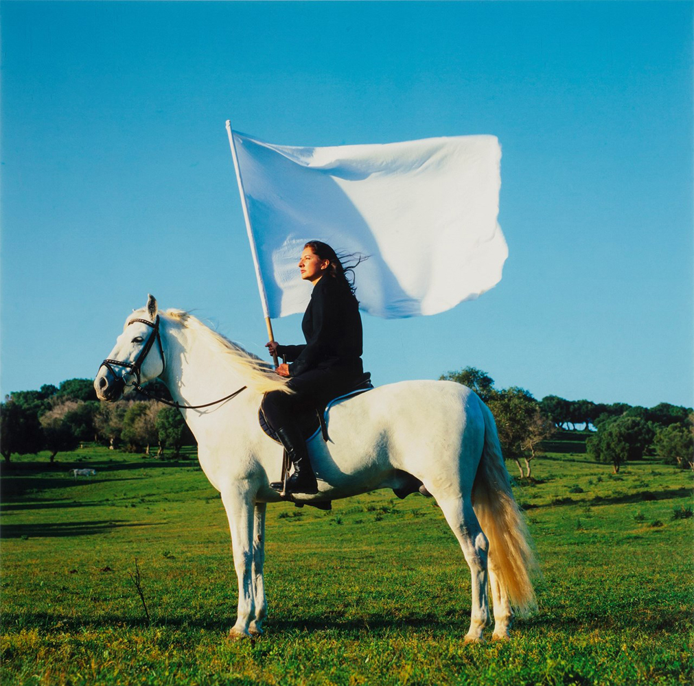 The Hero (2001) by Marina Abramovi?. Image from dazeddigital.com