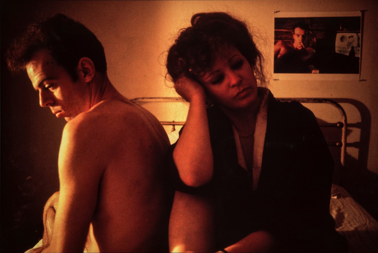 Self-Portrait in Kimono with Brian (1983) by Nan Goldin. Image from dazeddigital.com