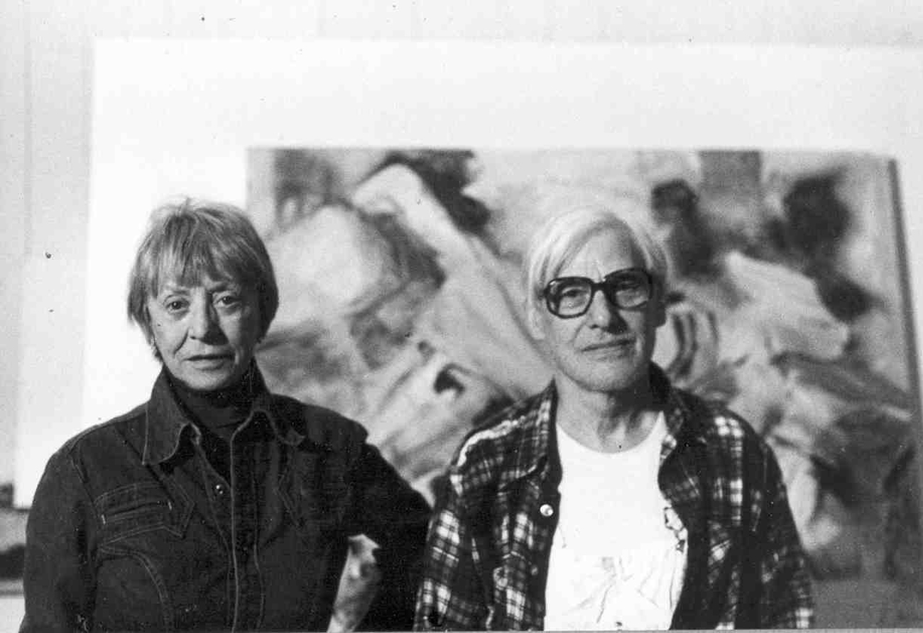 Elaine and Willem De Kooning. Image from aarome.org
