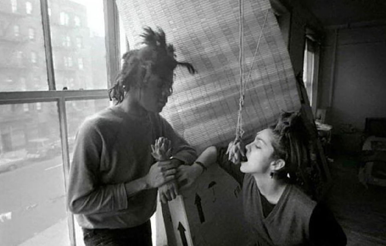 Madonna and Jean-Michel Basquiat. Image from animalnewyork.com