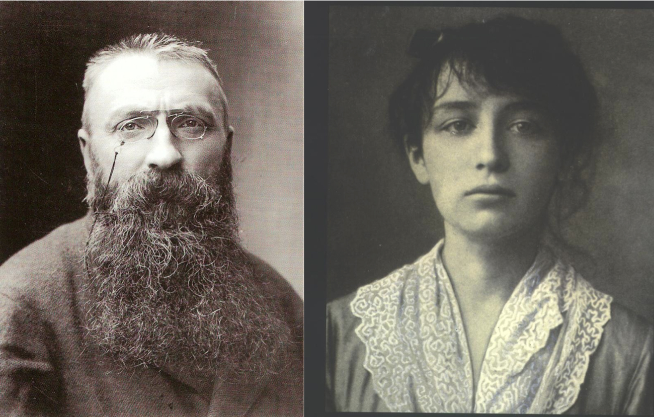 Camille Claudel and Auguste Rodin. Image from deslettres.fr