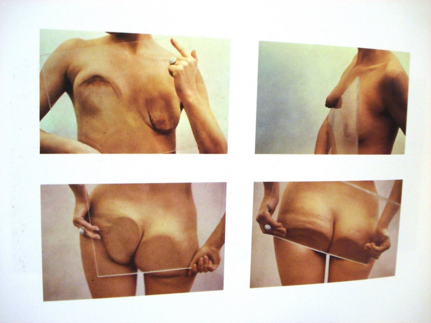 Ana Mendieta - Untitled (Glass on Body Imprints),