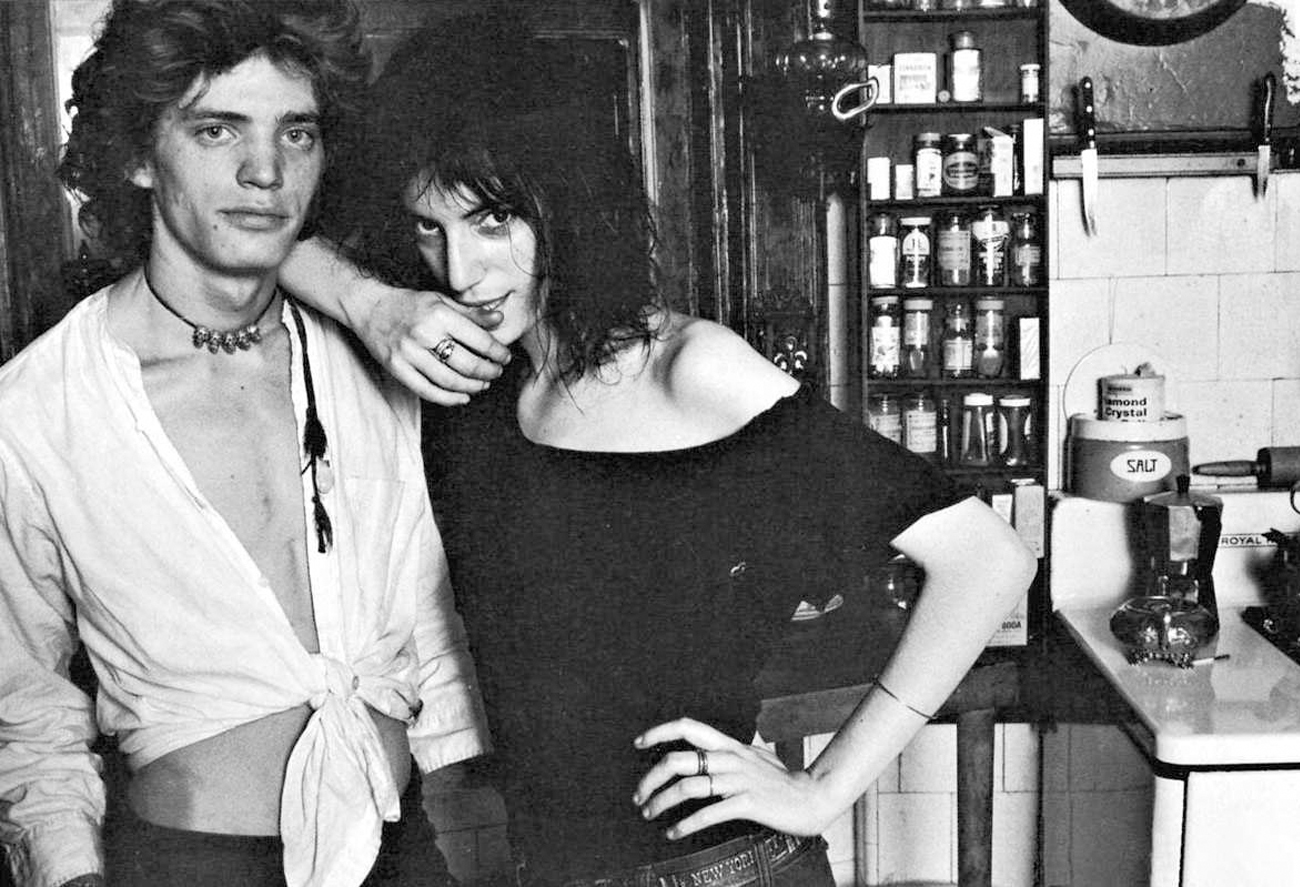 Robert Mapplethorpe and Patti Smith. Image from pattiandrobert.tumblr.com