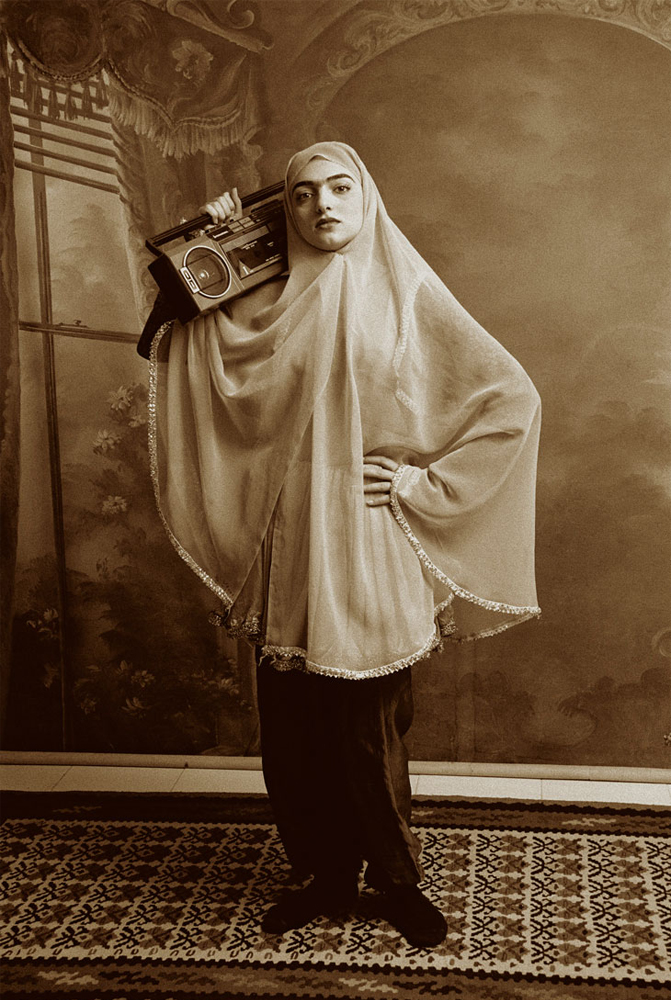 Shadi Ghadirian. Untitled from the Ghajar Series. Image from saatchigallery.com