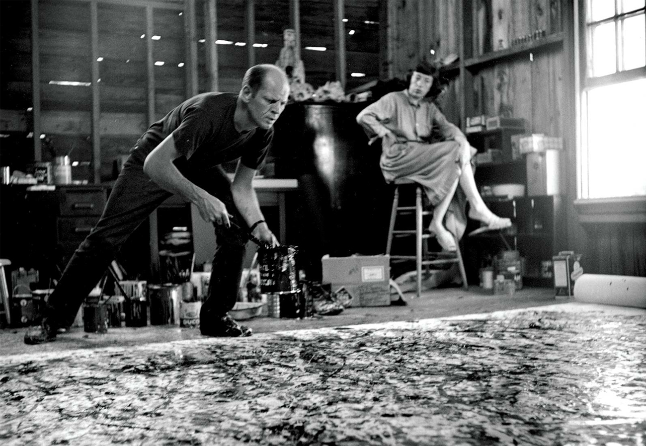 Jackson Pollock and Lee Krasner. Image from stonybrook.edu
