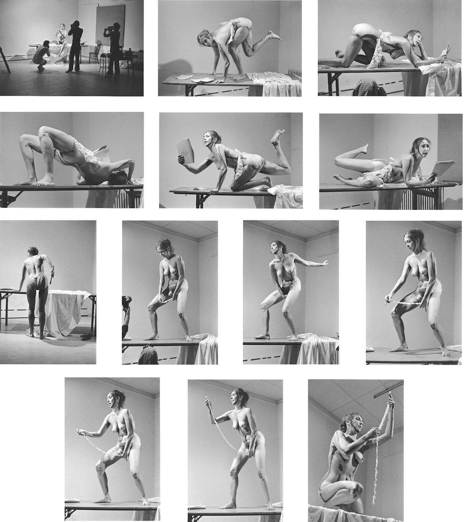 Carolee Schneemann Interior Scroll, 1975. Via fineartmultiple.com
