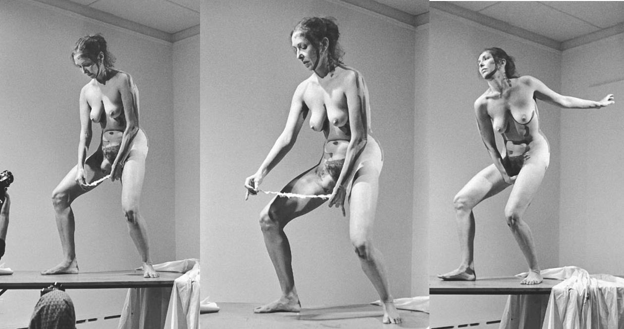 Carolee Schneemann - Interior Scroll, 1975. Via fineartmultiple.com