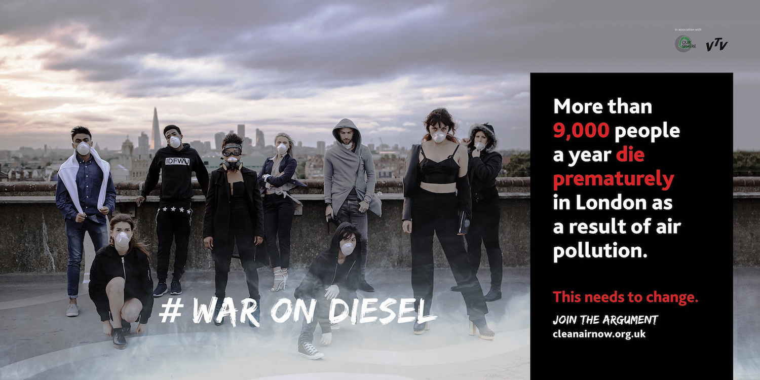 War on Diesel Billboard Clean Air Now