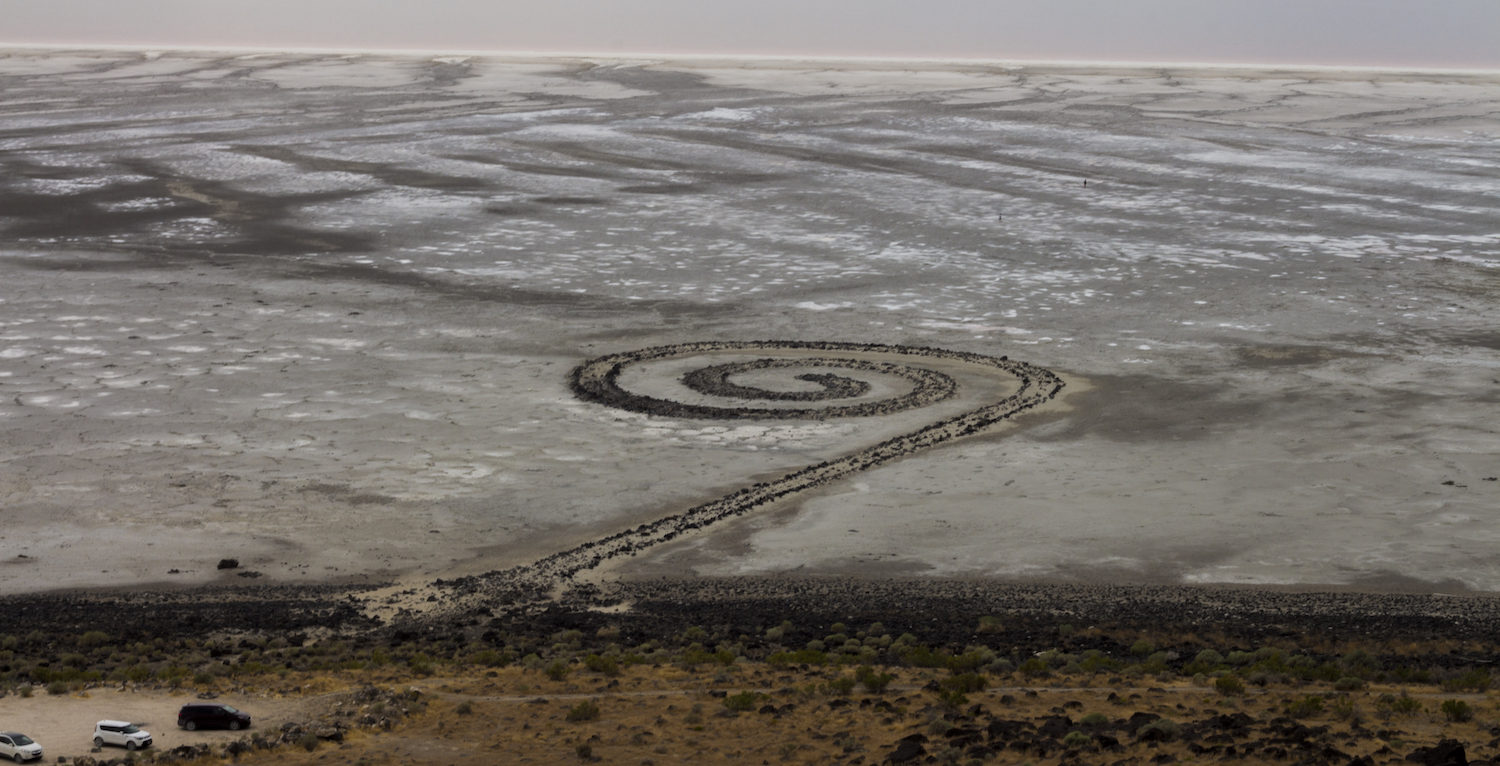 Robert Smithson's Spiral Jetty. Via Wikimedia Commons