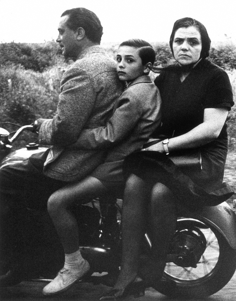 The Holy Family on Bike, Rome (1956). Image from pinterest.com