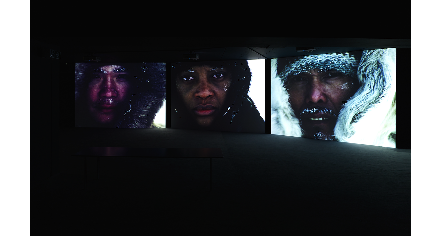 """Isaac Julien, """"True North"""", 2004. Installation view, """"Jaguars and Electric Eels"""", Julia Stoschek Collection, Berlin. Image: Courtesy of the artists and Julia Stoschek Collection, Berlin. Photo: Simon Vogel"""
