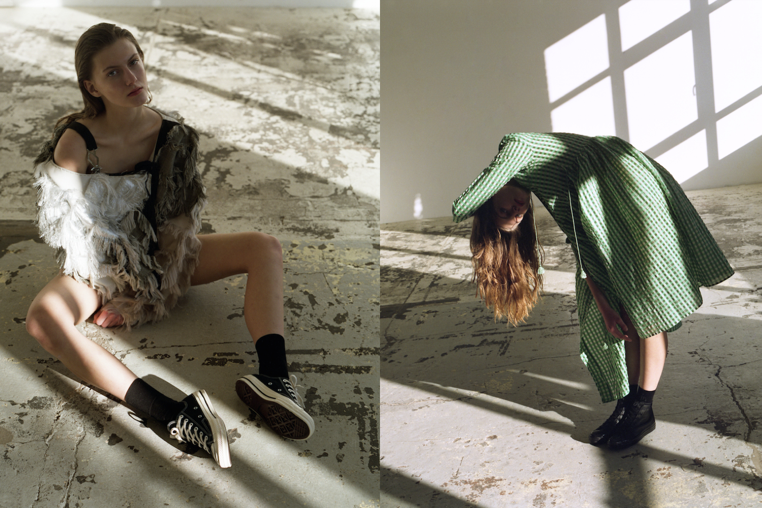 c5942af1cb9f Left  Top by Anne Sofie Madsen. Right  Dress by Shrimps. Left and right   Socks by FALKE