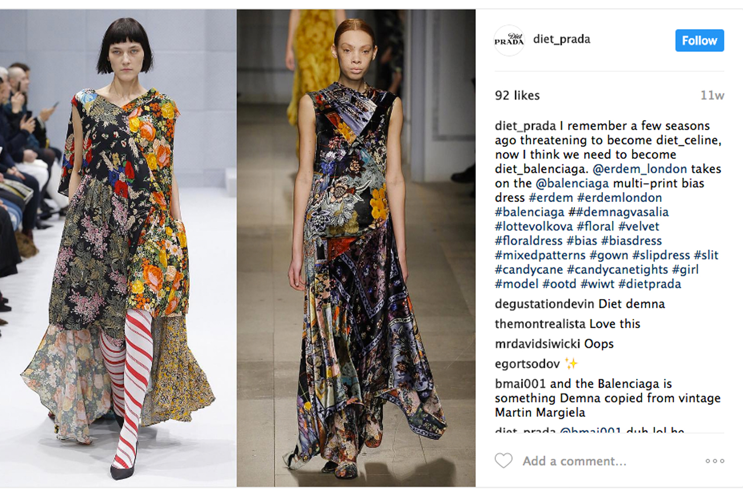 The Instagram Accounts Calling Out Fashion S Copy Cats Sleek Magazine